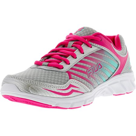 best website 30d4e 17909 Fila Women's Gamble Metallic Silver / Pink Glow Cockatoo Ankle-High Running  Shoe - 8M