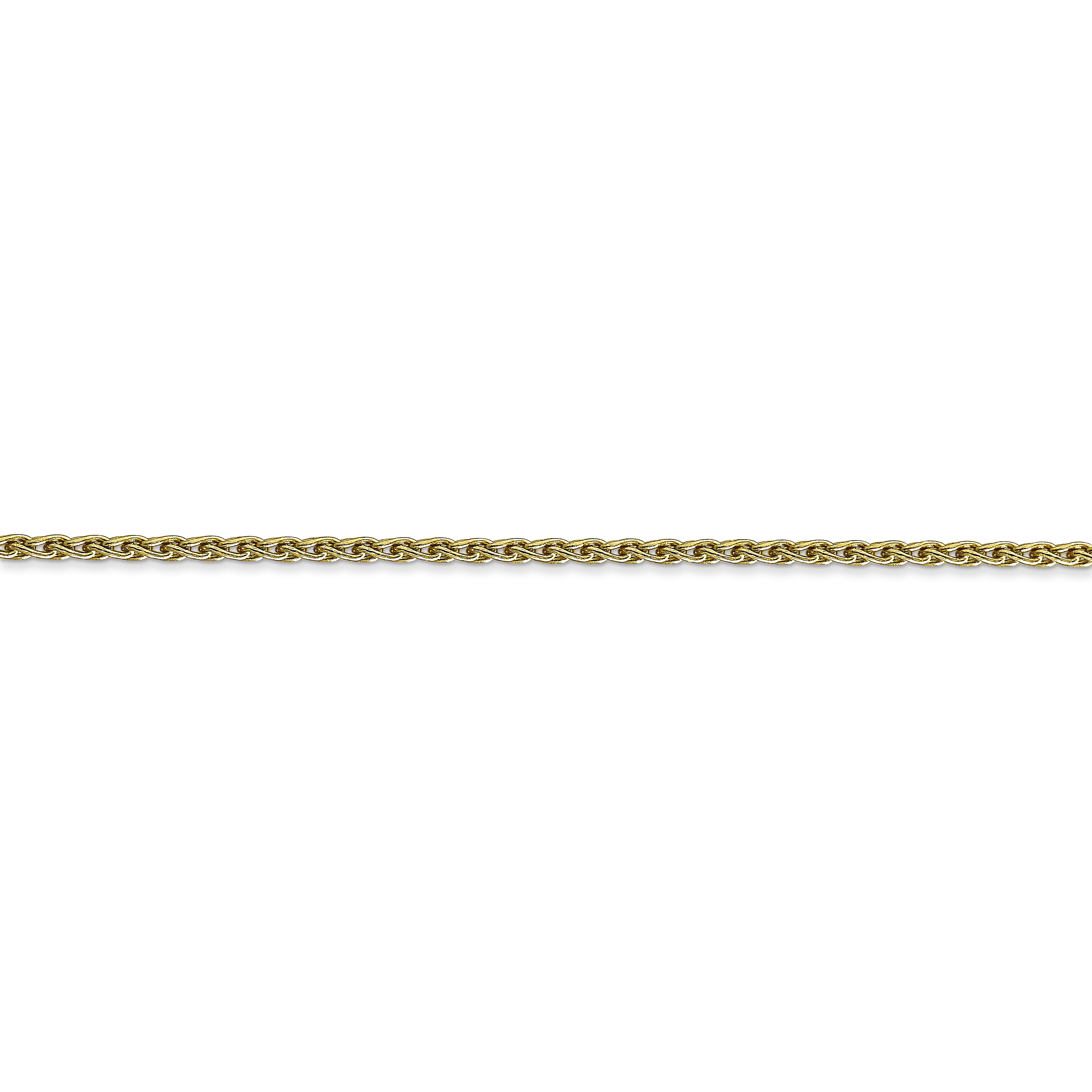 10k Yellow Gold 1.75mm Parisian Link Wheat Necklace Chain Pendant Charm Spiga Fine Jewelry Gifts For Women For Her - image 1 de 4