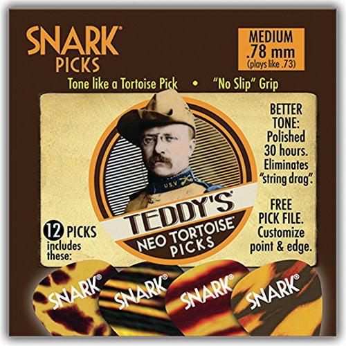 Snark Guitar Picks -Teddy's Neo Tortoise - 12 pack - .78mm - no slip grip
