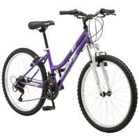 Roadmaster Granite Peak Girls Mountain Bike, 24-inch wheels, Light Blue