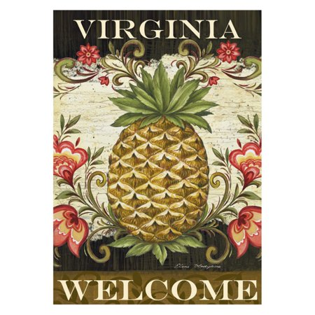 - Toland Home Garden Pineapple and Scrolls Virginia Welcome Flag