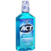ACT Cool Splash Spearmint Restoring Anticavity Fluoride Mouthwash, 33.8 fl oz