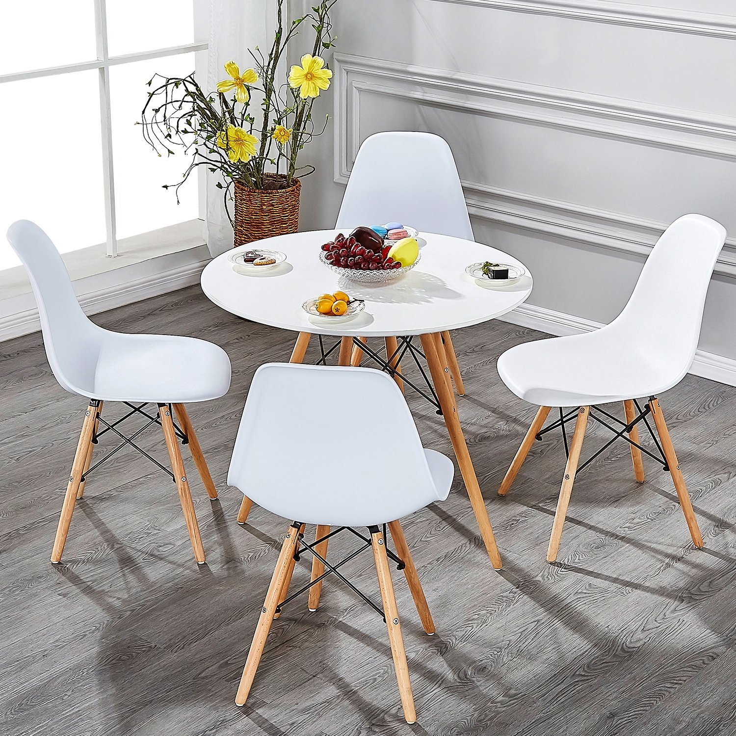 Dining Chairs Set of 4,Mid Century Side Chair for Living ...