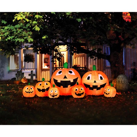 8 5 39 inflatable pumpkin patch for Friendly outdoor halloween decorations