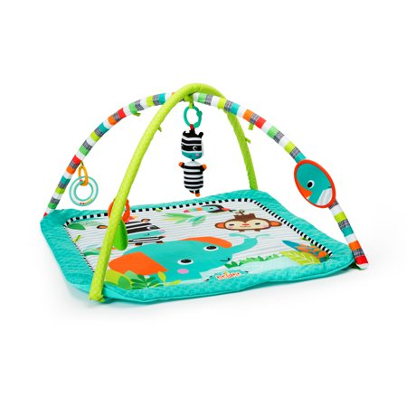 Bright Starts Activity Gym and Play Mat - Zig Zag (Best Activity Mat For Tummy Time)