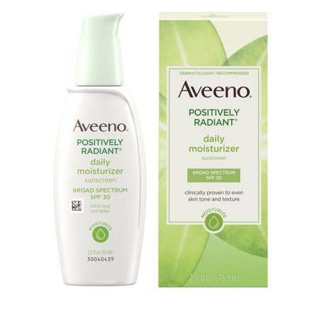 Aveeno Positively Radiant Daily Moisturizer with Soy, 2.5 fl.