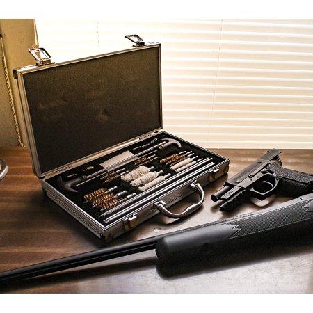 Zimtown 126pcs Gun Cleaning Kit, Pro Universal Barrel Gun Cleaner Maintenance Tool, with Free Case, for Cleaning Pistol, Rifle, Shotgun,
