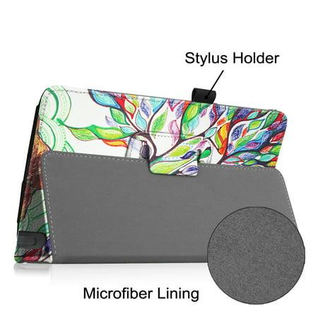Fintie Folio PU Housse en cuir pour LG G Pad F 8.0 Tablet AT & T V495 / T-Mobile V496 / US Cellular UK495, arbre de l'amour - image 5 de 7