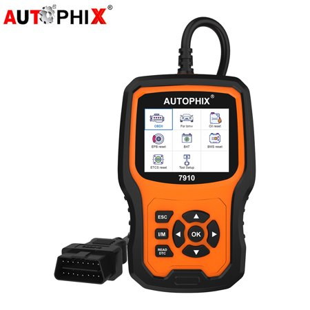 Autophix 7910 OBD2 Scanner Full System for BMW Mini Rolls Royce ABS Airbag Transmission SAS EPB TPMS DPF Oil Reset Check Engine Light Fault Code Reader OBD 2 Automotive Diagnostic Scan Tool ()