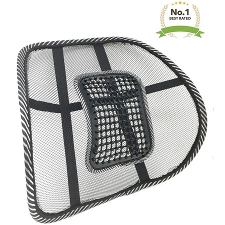 New Lightweight Mesh Back Support with Massage Vent Posture Corrector Orthopedic Massage Pressure Point Ergonomic Design Lower Back Pain Support Car Seat Chair Cushion Pad for Office, Car,Travel (4)