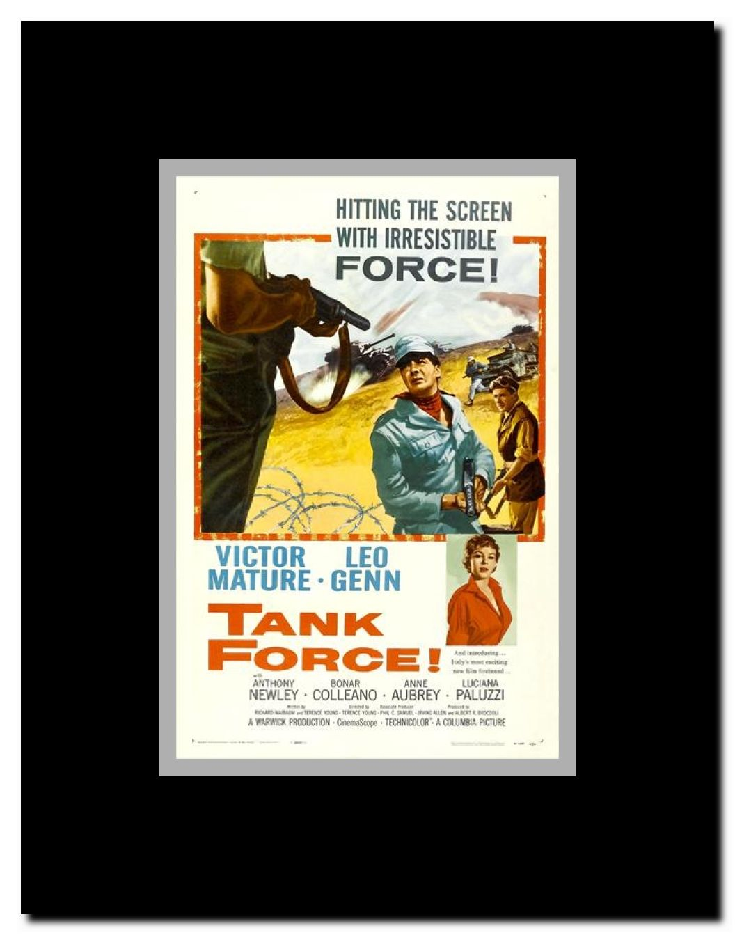 No time to die Tank Force  Victor Mature movie poster