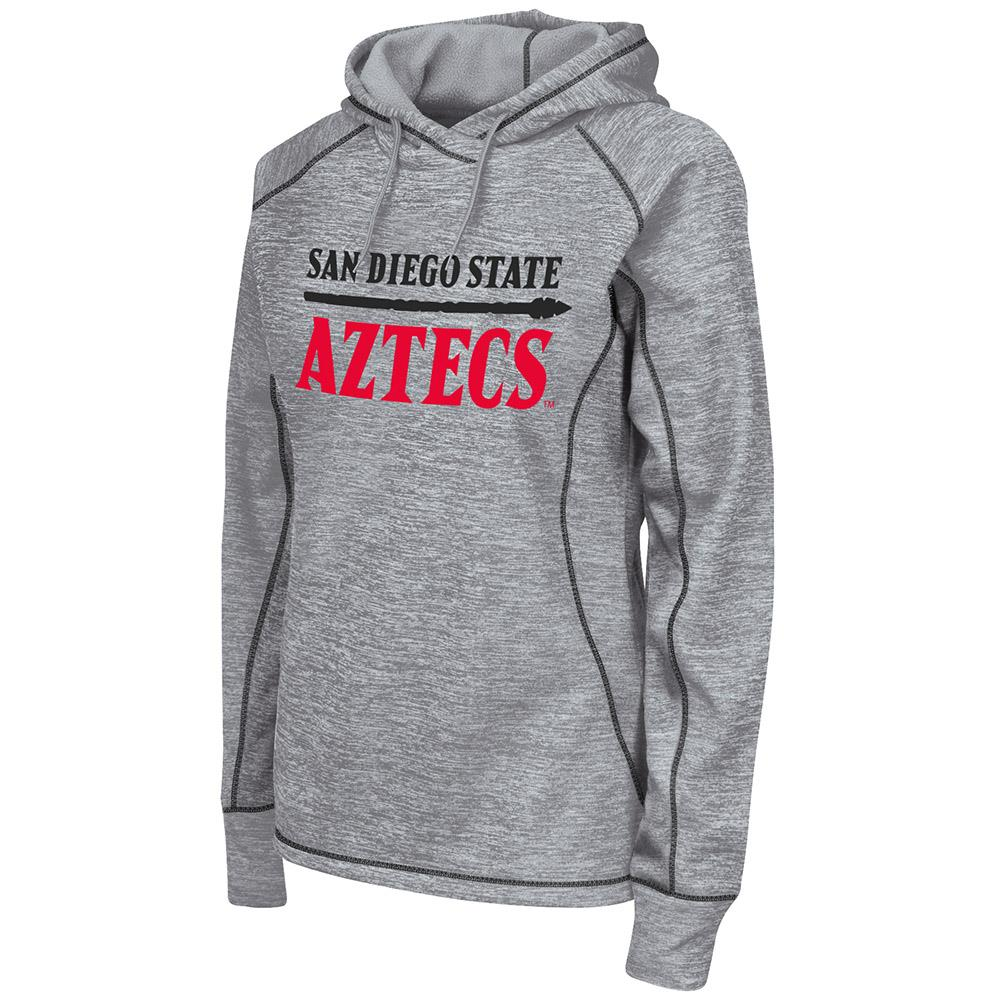 Womens NCAA San Diego State Aztecs Poly Pull-over Hoodie