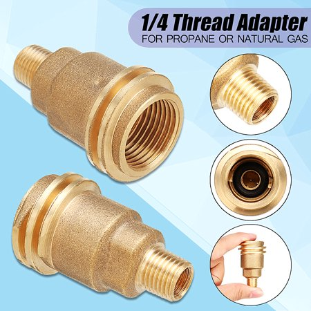 QCC1 Connection 1/4 Thread Male Pipe Adapter Connector Propane Gas Fitting ()