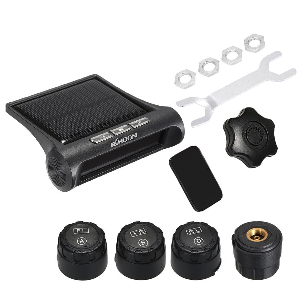 KKmoon TPMS Tire Pressure Monitoring Wireless Real-time Solar Energy 4 Sensors