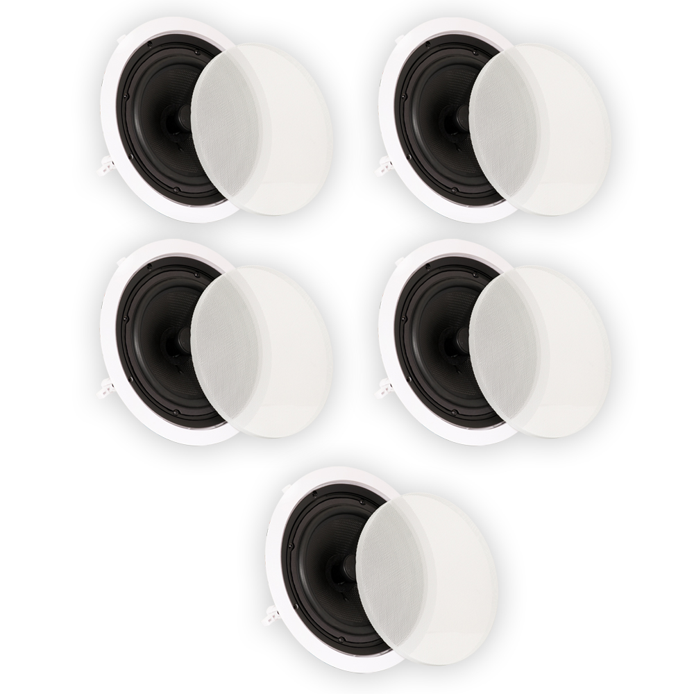 "Theater Solutions TS80C In Ceiling 8"" Speakers Surround Sound Home Theater 5 Speaker Set TS80C-5S"