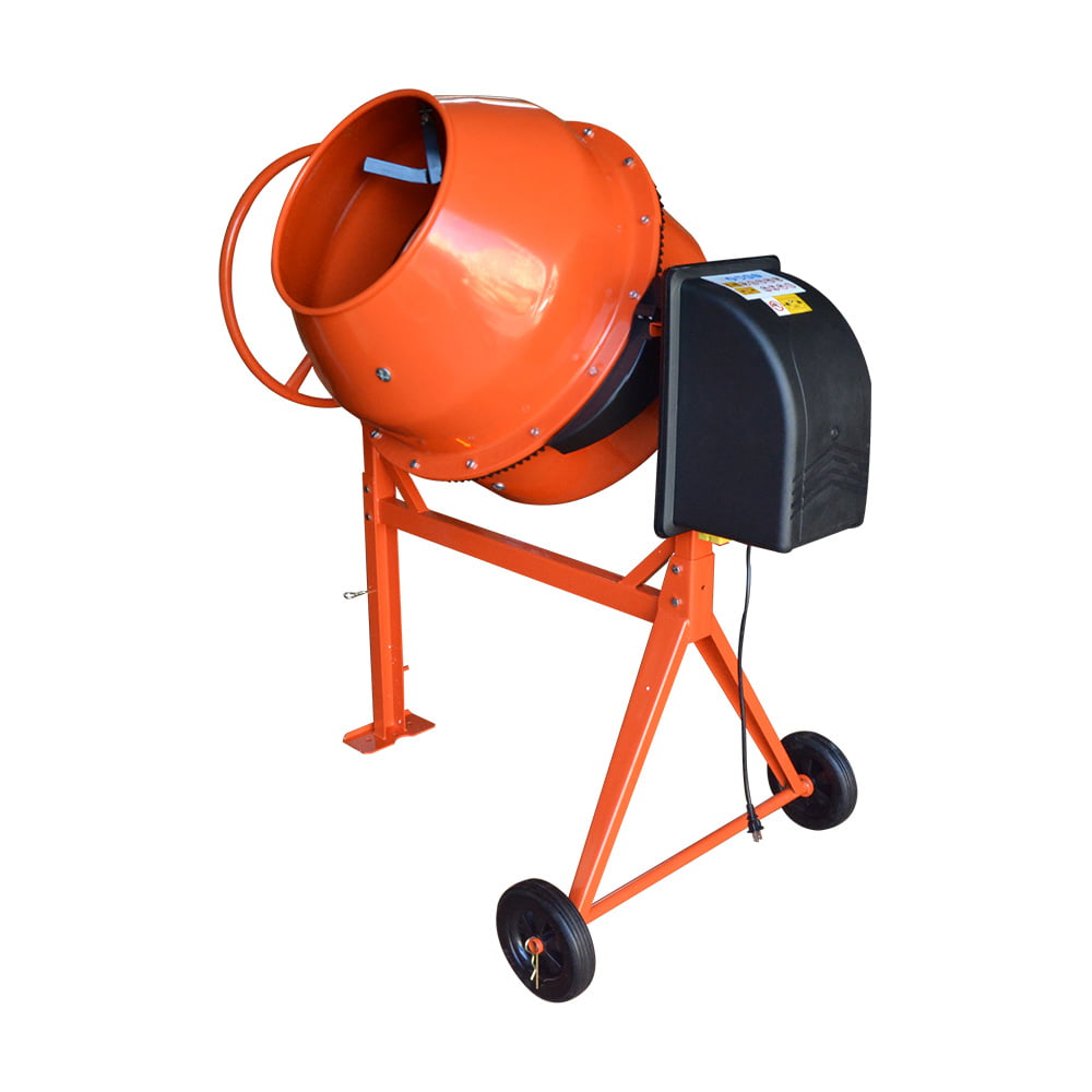 HD Portable Electric 170L Steel Stucco Concrete Cement Mixer Contractor Mortar by