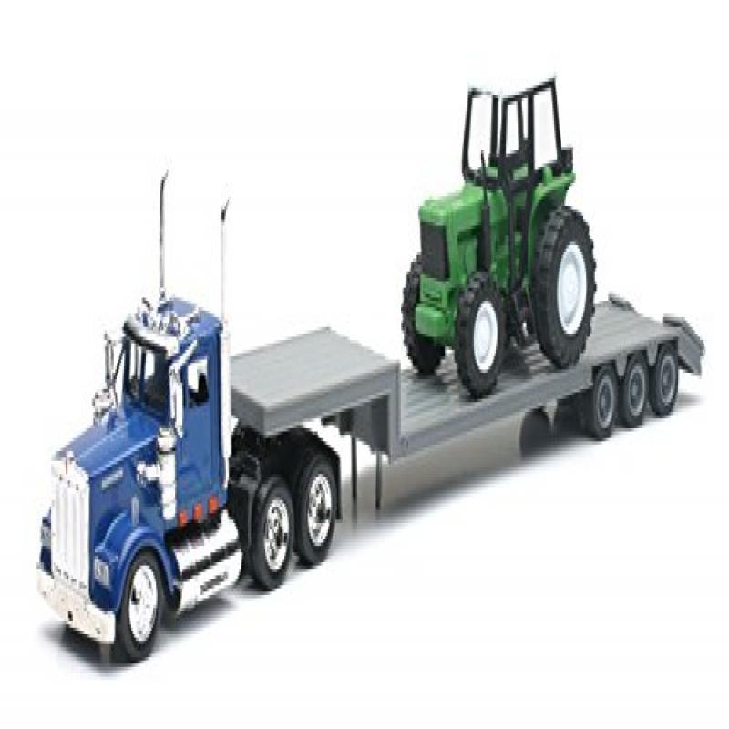 Diecast Kenworth Tractor & Trailer w  Farm Tractor 1:43 by