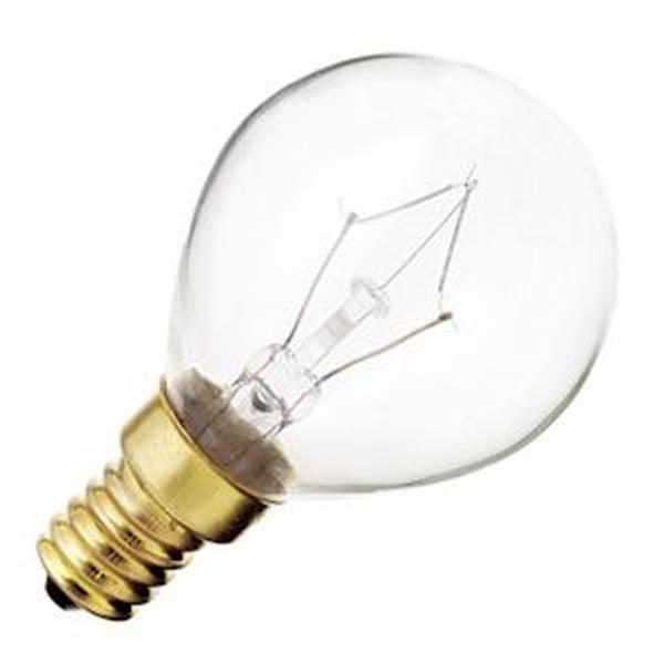 Satco S3397 40W 130V Globe G14 Clear E14 Base Incand. bulb