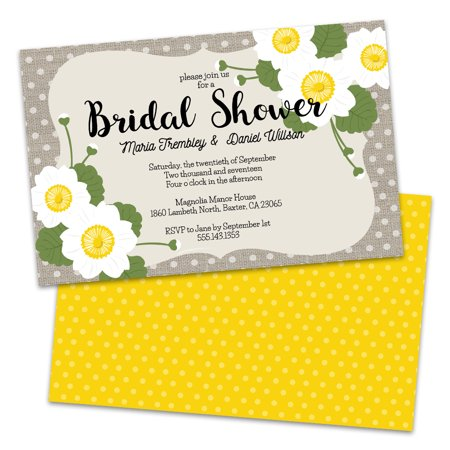 Personalized Country Floral Dots Bridal Shower Invitations (Wedding Invitations Country Style)