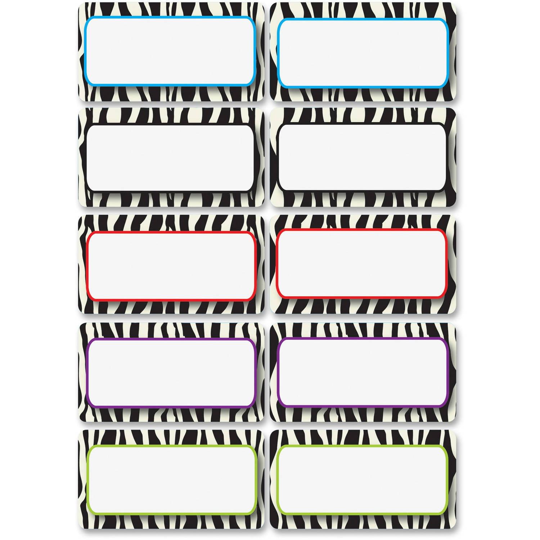 Ashley Zebra Print Dry-Erase Nameplate Magnet