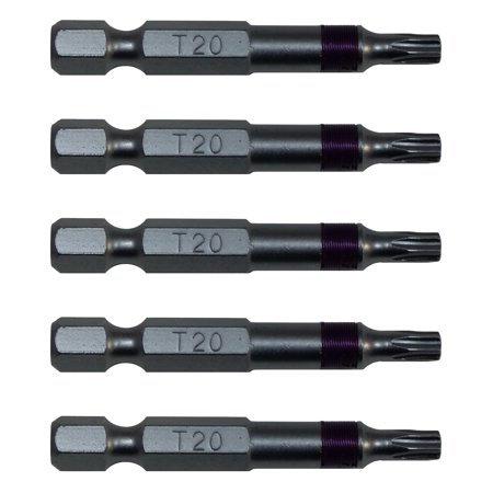 T20 (T-20) Torx/Star Driver Bit - High Quality Color Coded T20 x 2
