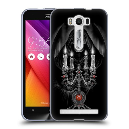 OFFICIAL ANNE STOKES TRIBAL SOFT GEL CASE FOR ASUS ZENFONE PHONES - Skull Candelabra