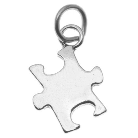 UnCommon Artistry Sterling Silver Autism Awareness Puzzle Piece Charm