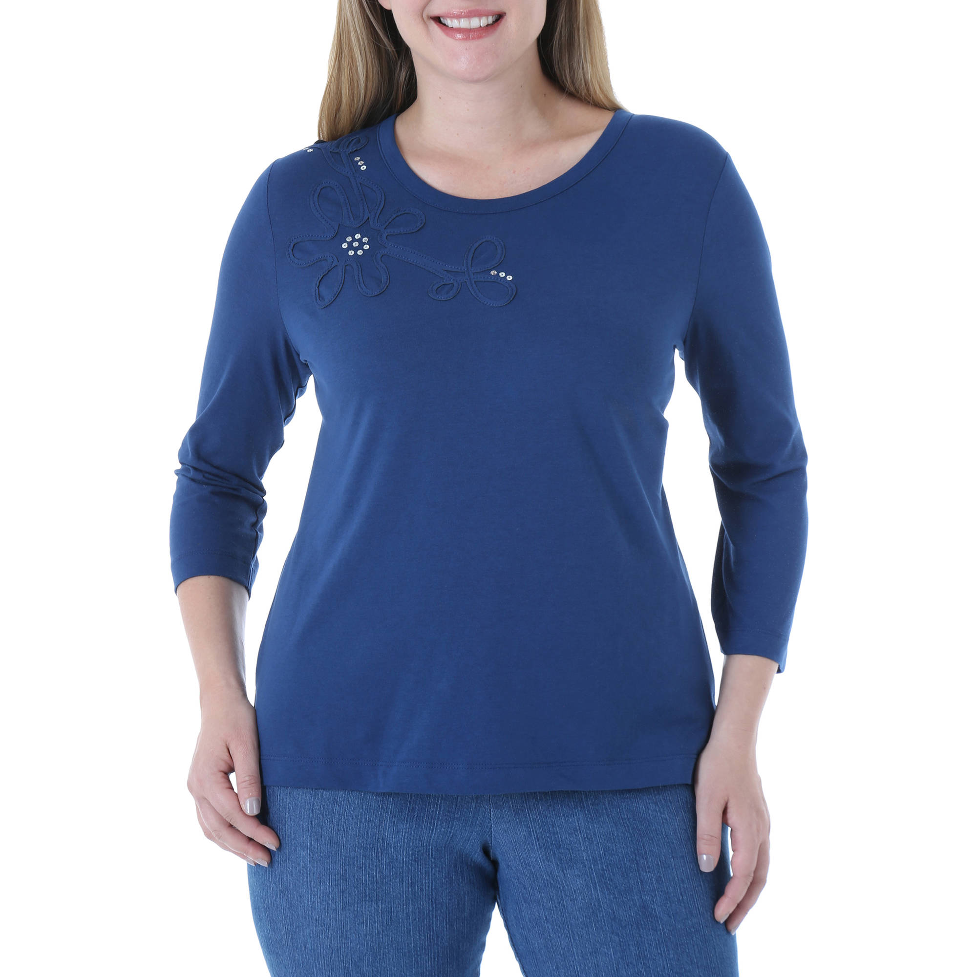Chic Women's Comfort Collection 3/4 Sleeve Shirt