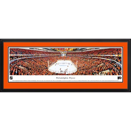 Philadelphia Flyers End Ice View at Wells Fargo Center Blakeway Panoramas NHL Print with Deluxe Frame and Double Mat by
