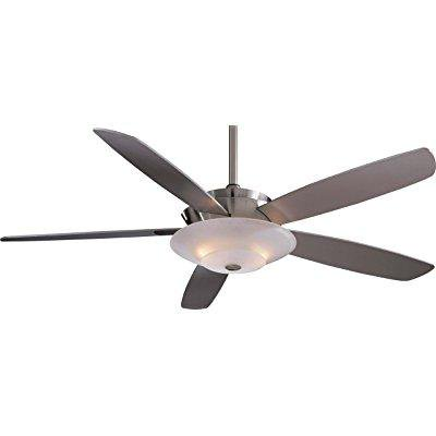 minka-aire f598-bn, airus, 54 ceiling fan with light, brushed nickel