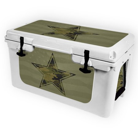 Skin for RTIC 45 Cooler (2017 Model) - Army Star| MightySkins Protective, Durable, and Unique Vinyl Decal wrap cover  | Easy To Apply, Remove, and Change Styles | Made in the USA