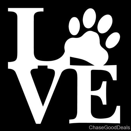 Love Paw Animal Pet Dog Cat Cute Car Vinyl Decal Sticker 5