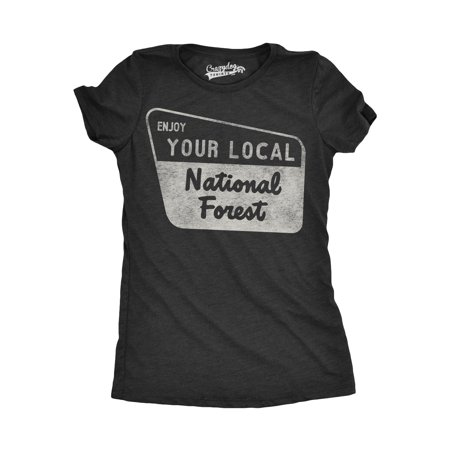 Womens Enjoy Your National Forest Funny Outdoor Vintage Camping Mountains T (Rd National)