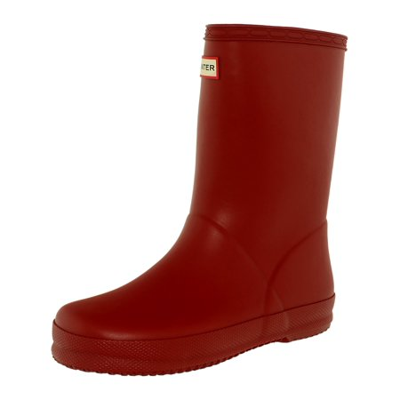 Hunter Boy's Kids First Classic Military Red Mid-Calf Rubber Rain Boot - 9M - Hunter Boots Child