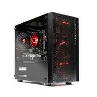 SkyTech Blaze - Gaming Computer PC Desktop – Ryzen 5 1600 6-Core 3.2 GHz, NVIDIA GeForce GTX 1050 Ti 4GB, 1TB HDD, 8GB DDR4, AC WiFi, Windows 10 Home 64-bit (8GB Version)