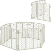 Evenflo Versatile Play Space Gate, Cream & 2-Panel Extension Value Bundle