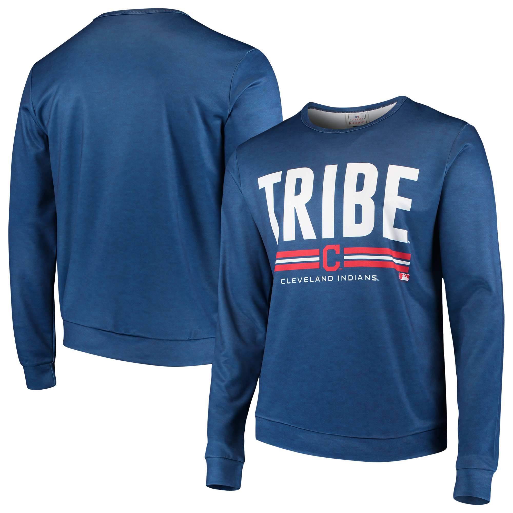 Cleveland Indians Localized Crew Neck Sweater - Navy
