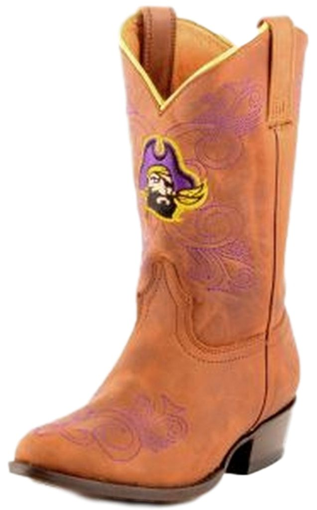 Gameday Boots Girls College Team East Carolina Pirate Honey ECU-G010-1 by Gameday Boots