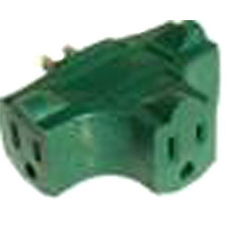 Part Ad025000B 3 Tap Green 90 Degree Adapter, by Prime Wire & Cable, Single (Wiretap Phone)