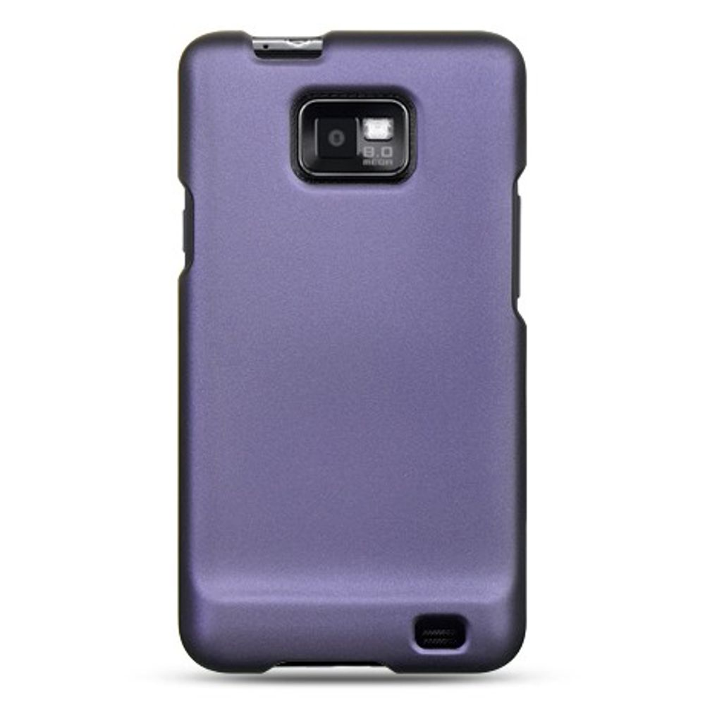 Insten Hard Crystal Rubber Skin Back Protective Shell Cover Case For Samsung Galaxy S2 Attain I777 - Purple - image 1 of 2