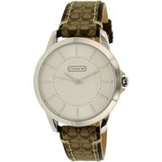 Coach Women's 14501525 Silver Leather Quartz Fashion Watch