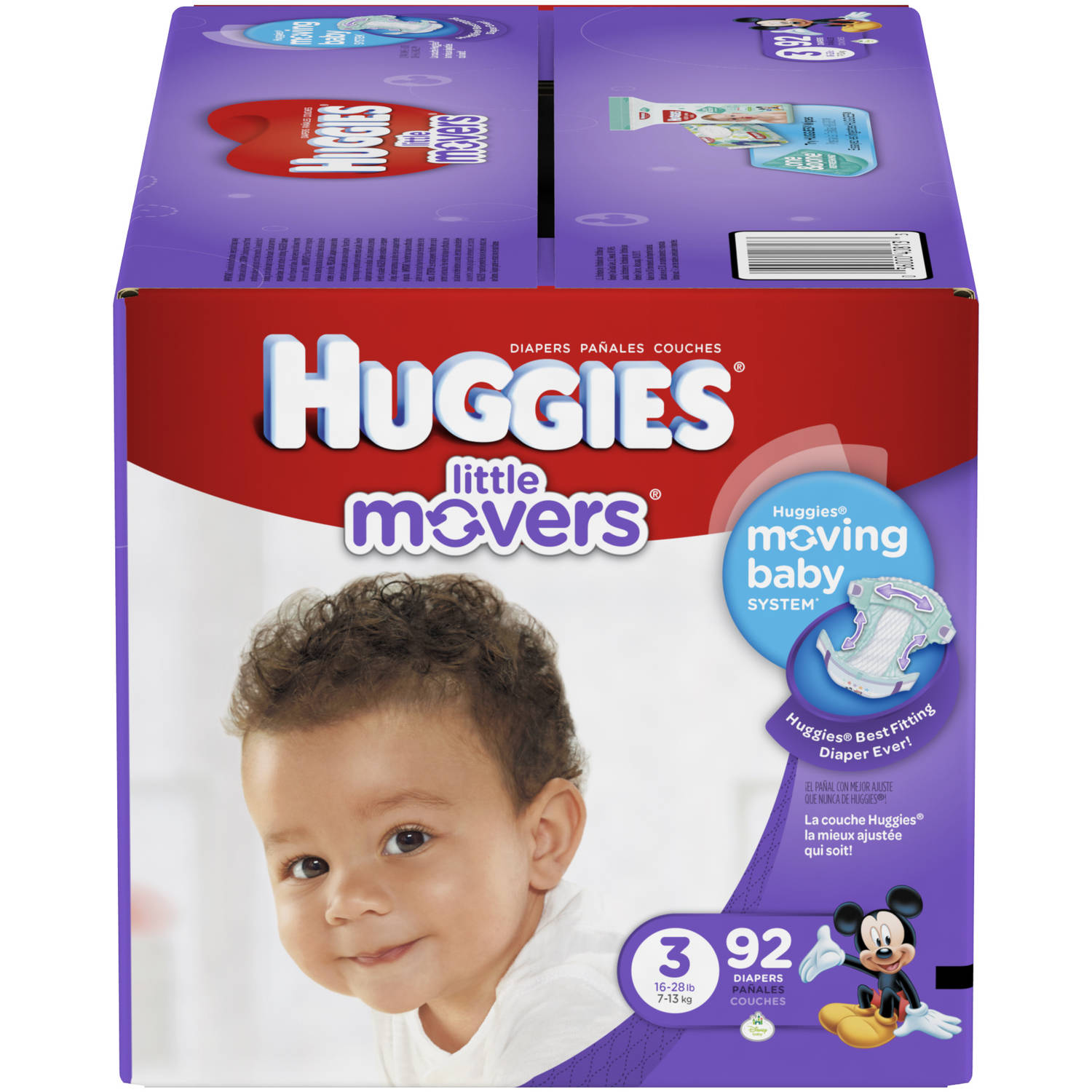 HUGGIES Little Movers Diapers, Super Pack (Choose Your Size)