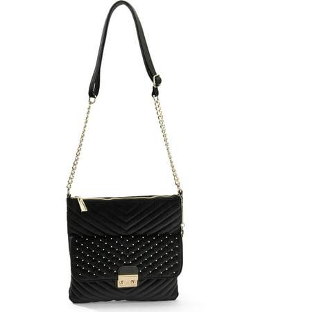 8de346cde161 Big Buddha - Women s Velvet Crossbody Handbag - Walmart.com