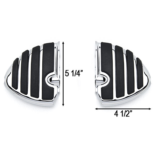Chrome Motorcycle Wing Foot Pegs Footrests L+R For Triumph Rocket III All Front - image 2 de 3
