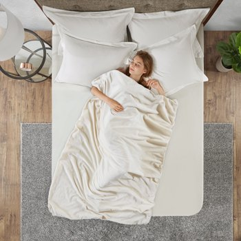Mainstays Weighted Throw Blanket with Removable Cover