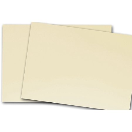 Ivory Flat Card - Blank Classic Crest 80 lb Baronial Ivory 4x6 Flat Card Invitations - 50 Pack