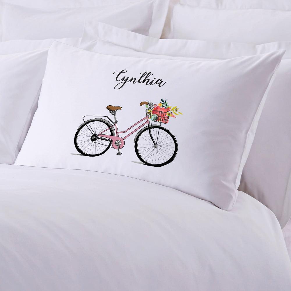 Bicycle Personalized Kids Standard Pillowcase