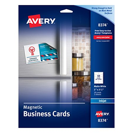 Avery 8374 Business Cards 2 X 3 12 White 10 Cards Per Sheet