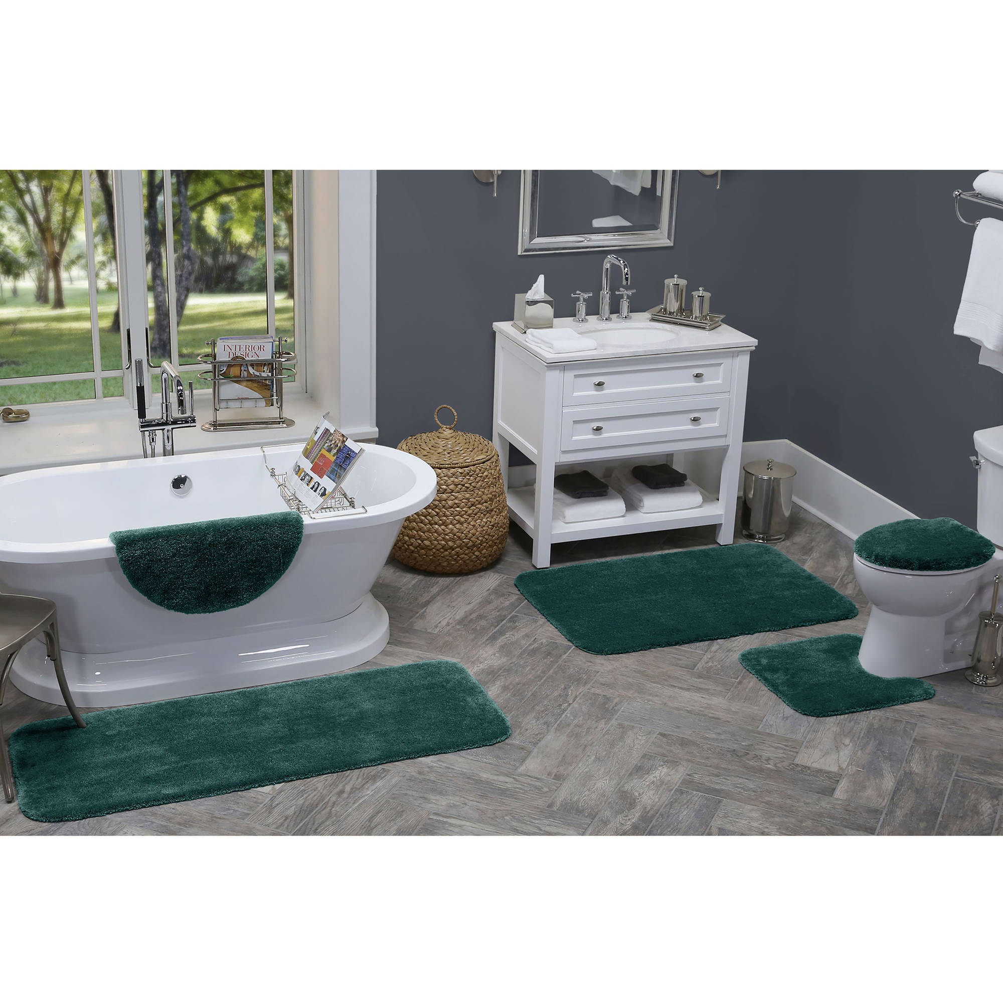 REFLECTIONS PIECE BATH RUG CONTOUR LID TANK LID TANK COVER - 5 piece bathroom rug sets for bathroom decorating ideas