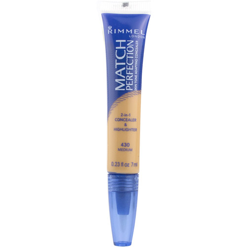 Coty Rimmel Match Perfection Concealer & Highlighter, 0.23 oz